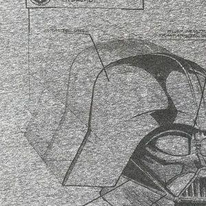 Star Wars Shirts - Star Wars branded Vader Helmet schematic T-shirt.